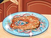 Флеш игра Кухня Сары: Лосось в клиновом сиропе