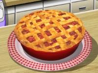 Флеш игра Кухня Сары: Пирог с ревенем