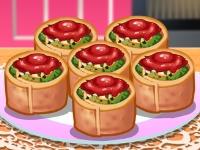 Флеш игра Кухня Сары: Ротоло со шпинатом