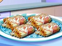 Флеш игра Кухня Сары: Рулеты из лазаньи с курицей