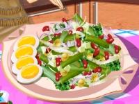 Флеш игра Кухня Сары: Салат из зеленой фасоли