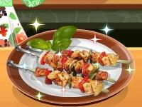 Флеш игра Кухня Сары: Шашлык для пикника