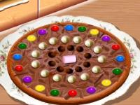 Флеш игра Кухня Сары: Шоколадная пицца