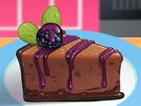 Флеш игра Кухня Сары: Шоколадный чизкейк с ежевикой