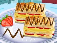 Флеш игра Кухня Сары: Слоеный торт Наполеон