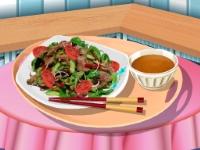 Флеш игра Кухня Сары: Тайский салат с мясом