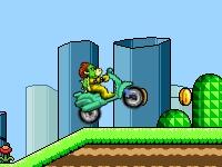 Флеш игра Купа на мопеде в мире Марио