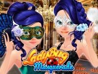 Флеш игра Леди Баг на маскарадной вечеринке