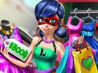 Флеш игра Леди Баг совершает покупки