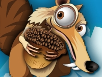 Флеш игра Ледниковый период: белка ловит орех