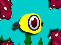 Флеш игра Летающая птичка-обжора