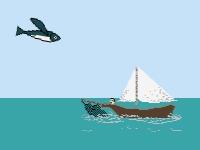 Флеш игра Летающая рыба