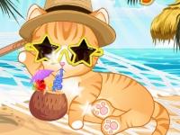 Флеш игра Летний отдых твоего кота