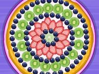 Флеш игра Летняя фруктовая пицца
