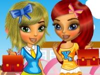 Флеш игра Лиза и Мина идут в школу