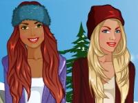 Флеш игра Лучшие подруги: Зимняя прогулка