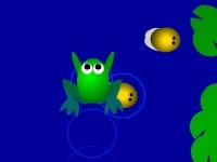 Флеш игра Лягушка ловит жуков 2