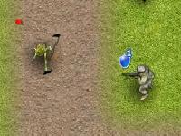 Флеш игра Люди против монстров