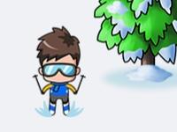 Флеш игра Лыжное преследование