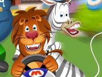 Флеш игра Мадагаскар: Гонка на электрических автомобилях