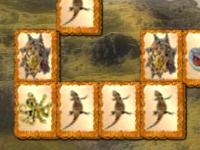 Флеш игра Маджонг с динозаврами