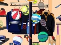 Флеш игра Магазин спорттоваров: Поиск предметов