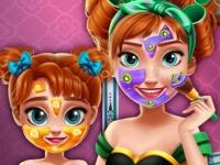 Флеш игра Макияж для Анны и ее доченьки
