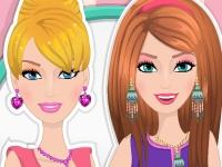 Флеш игра Макияж для Барби и Элли