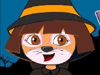 Флеш игра Макияж для Даши Путешественницы в канун Хэллоуина