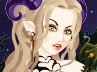 Флеш игра Макияж для королевы вампиров