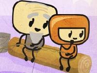 Флеш игра Мальчик-эскимо спасает дедушку