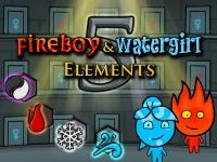 Флеш игра Мальчик огонь и девочка вода 5: Элементы