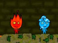 Флеш игра Мальчик огонь и девочка вода в храме леса 3
