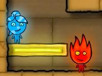 Флеш игра Мальчик огонь и девочка вода в храме света 2