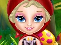 Флеш игра Маленькая Эльза в красном капюшоне