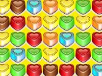Флеш игра Маленькие сердечки в ряд