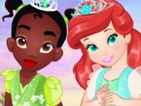 Флеш игра Маленькие принцессы на Хэллоуин