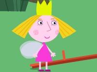 Флеш игра Маленькое королевство Бена и Холли: Прыжки за клубникой