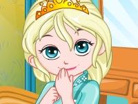 Флеш игра Малышка Эльза украшает комнату