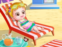 Флеш игра Малышка Хейзел на пляже