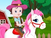 Флеш игра Малышка Лизи катается на пони