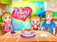 Флеш игра Малышке Хейзел: День отца