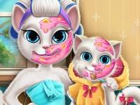 Флеш игра Мама Анжела: Настоящий макияж