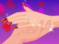Флеш игра Маникюр на день всех влюбленных