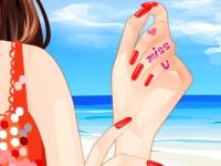 Флеш игра Маникюр на пляже