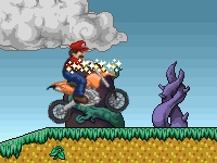 Флеш игра Марио на мотоцикле