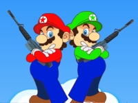 Флеш игра Марио и Луиджи против Боузера
