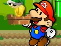 Флеш игра Марио ловит предметы