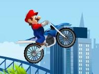 Флеш игра Марио на байке собирает звезды