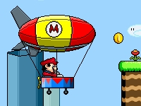 Флеш игра Марио на дирижабле
